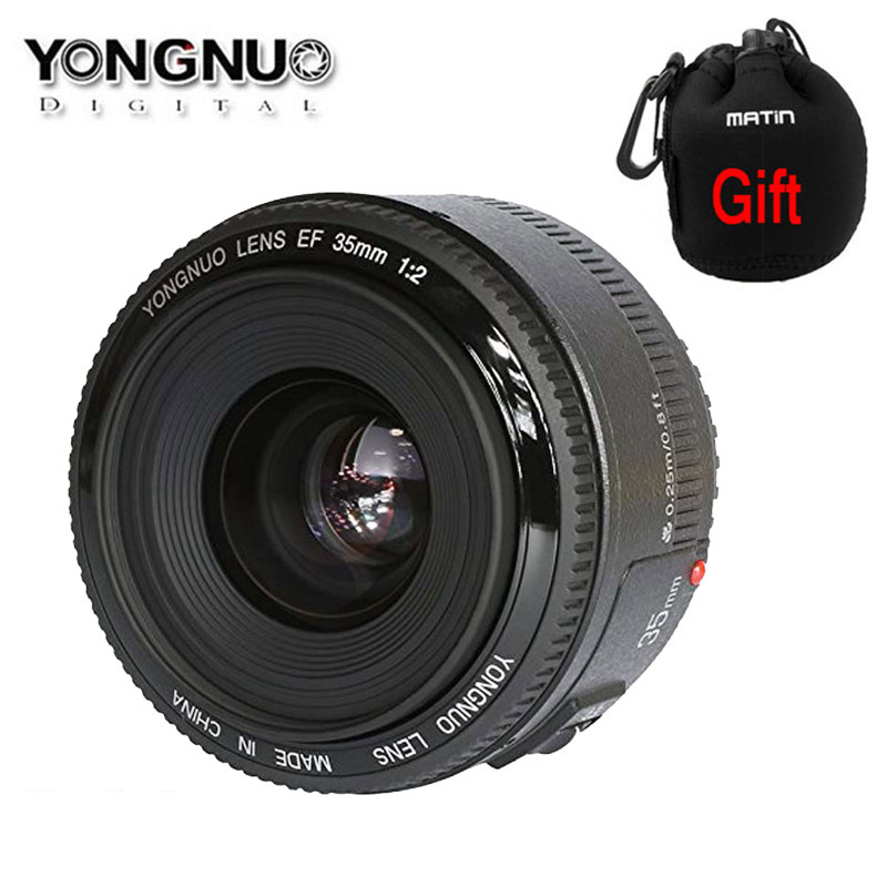 Yongnuo YN35mm F2.0 F2 1:2 AF MF Wide angle Fixed dslr camera Lens for Canon EOS 600d 60d 5DII 5D 400D 650D 600D 450D 60D 7D yongnuo yn100mm f2 af mf medium telephoto prime lens fixed focal for canon eos rebel camera ef mounting port 600d 60d 80d 6d5d3