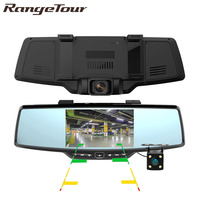 Dual Camera 4.3 inch Full HD 1080P Rearview Mirror Car DVR with Reverse Rear View Parking Camera Motion Detector G Sensor C30