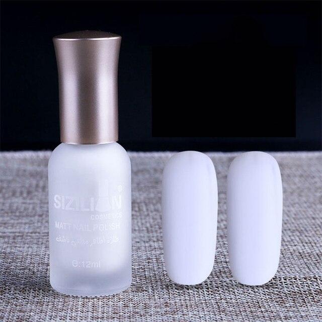 1 Botella de 12 ml Blanco Mate Mate de secado Rápido esmalte de Uñas ...