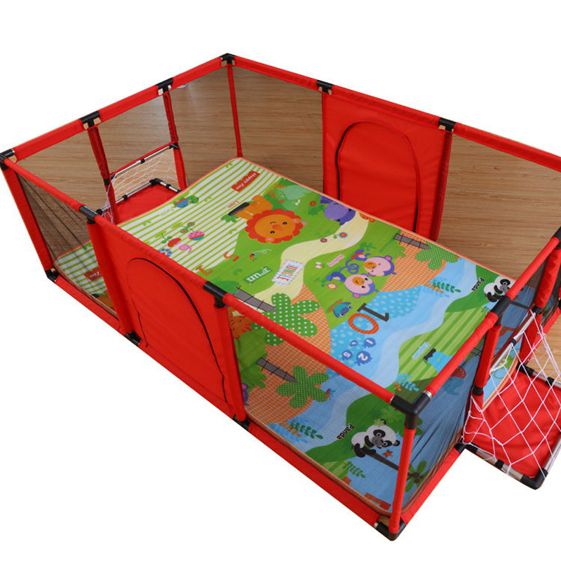 Children Play Fence Baby Playpen Large Indoor Game Fence with Crawling Pad Playmat Kids Activity Safety Game Playpen for Baby