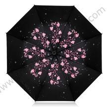 Складной солнцезащитный зонт пятикратное черное покрытие защита