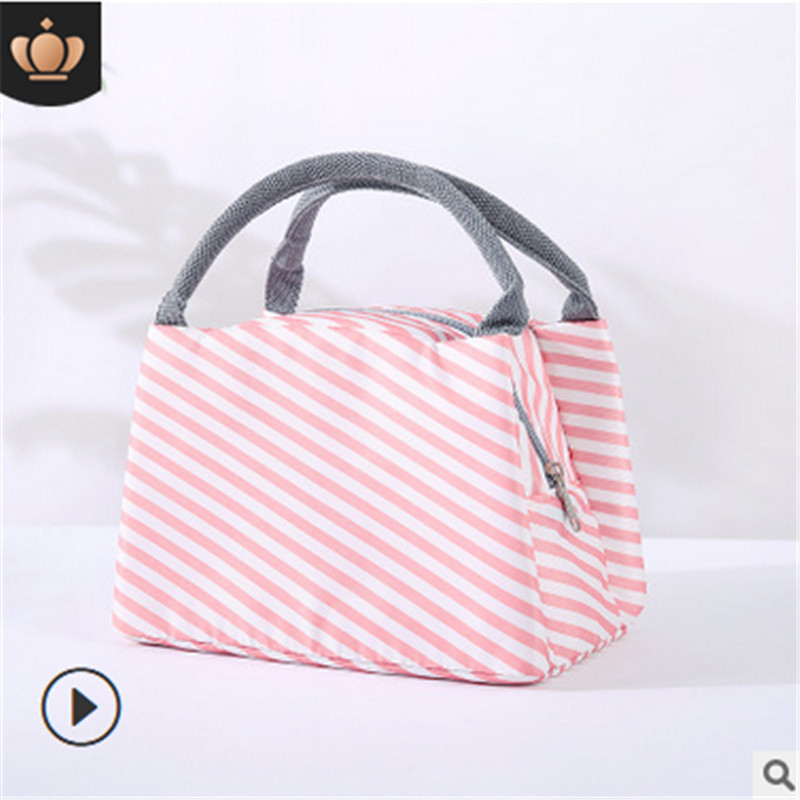 Portable Thermal Lunch Tote Bag Insulated Zipper Box Hot Cold Food Container Cooler Children Women Mother Diaper Bag New Fashion