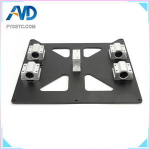 Image 3 - Aluminum Y Carriage Anodized Plate With SC8UU pgrade Prusa i3 V2 Hot Bed Support Plate For Prusa i3 RepRap DIY 3D Printer parts