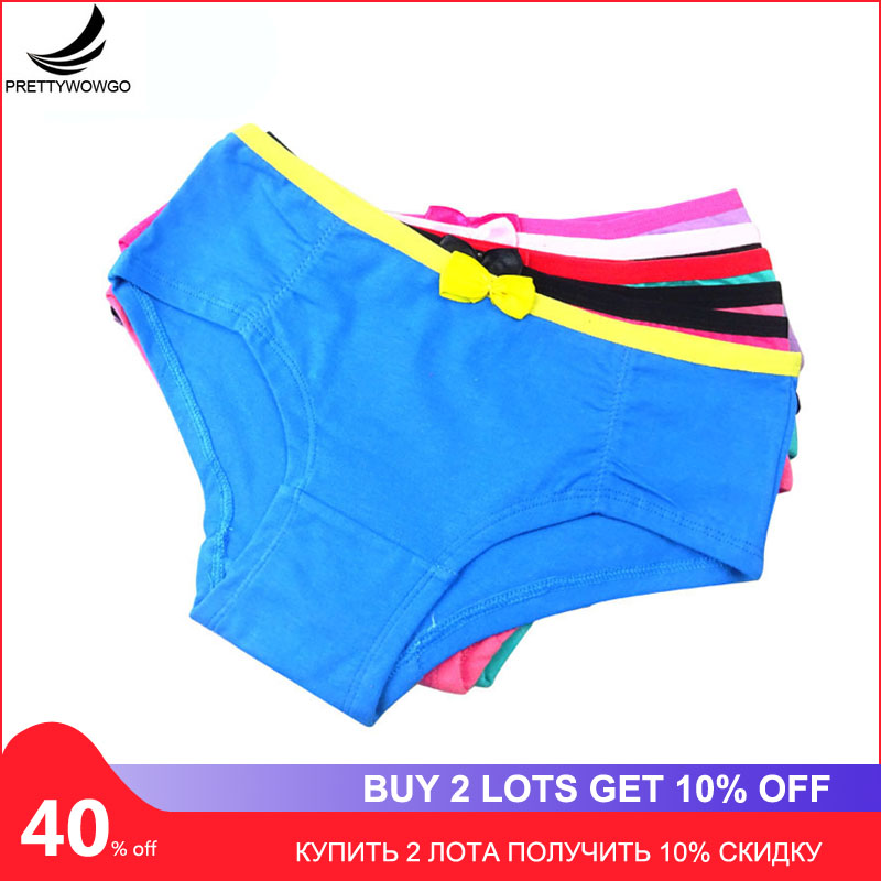 Prettywowgo 5pcs/lot Women Cotton Briefs Underwear   Panties   Breathable Cotton Ladies Underpant 6999