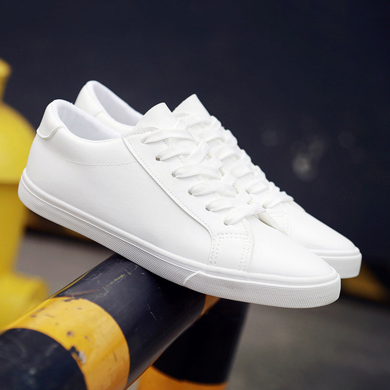 women sneakers 2019 spring tenis feminino lace-up white shoes woman PU Leather solid color female casual shoes sneakers womenwomen sneakers 2019 spring tenis feminino lace-up white shoes woman PU Leather solid color female casual shoes sneakers women