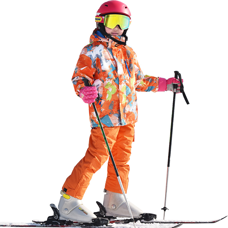 Ski suit for girls Windproof Waterproof Winter jacket and pants Children boys snow set outdoor -30 warm thicken snowboard suit цены онлайн