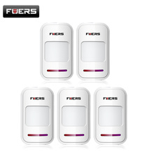 5pcs/Lot Wireless PIR motion sensor detector f touch keypad panel GSM PSTN home house security Burglar voice alarm system
