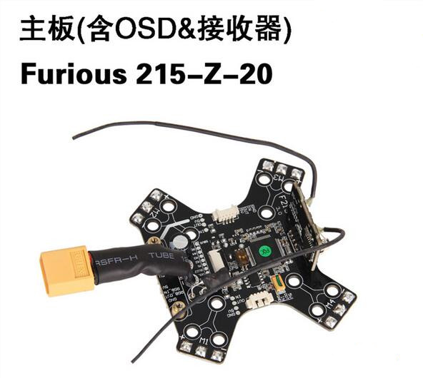 Walkera Furious 215-Z-20 Main Board with OSD & Receiver for Walkera Furious 215 FPV Racing Drone Quadcopter Aircraft fpv s2 osd barometer version osd board read naza data phantom 2 iosd osd barometer with 8m gps module