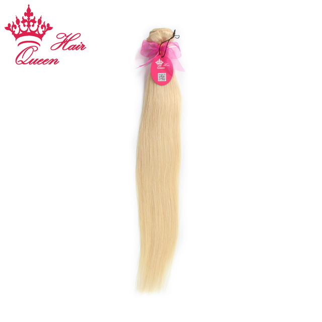 Queen Hair Products Brazilian Human Hair Weft Straight Bleach Blonde