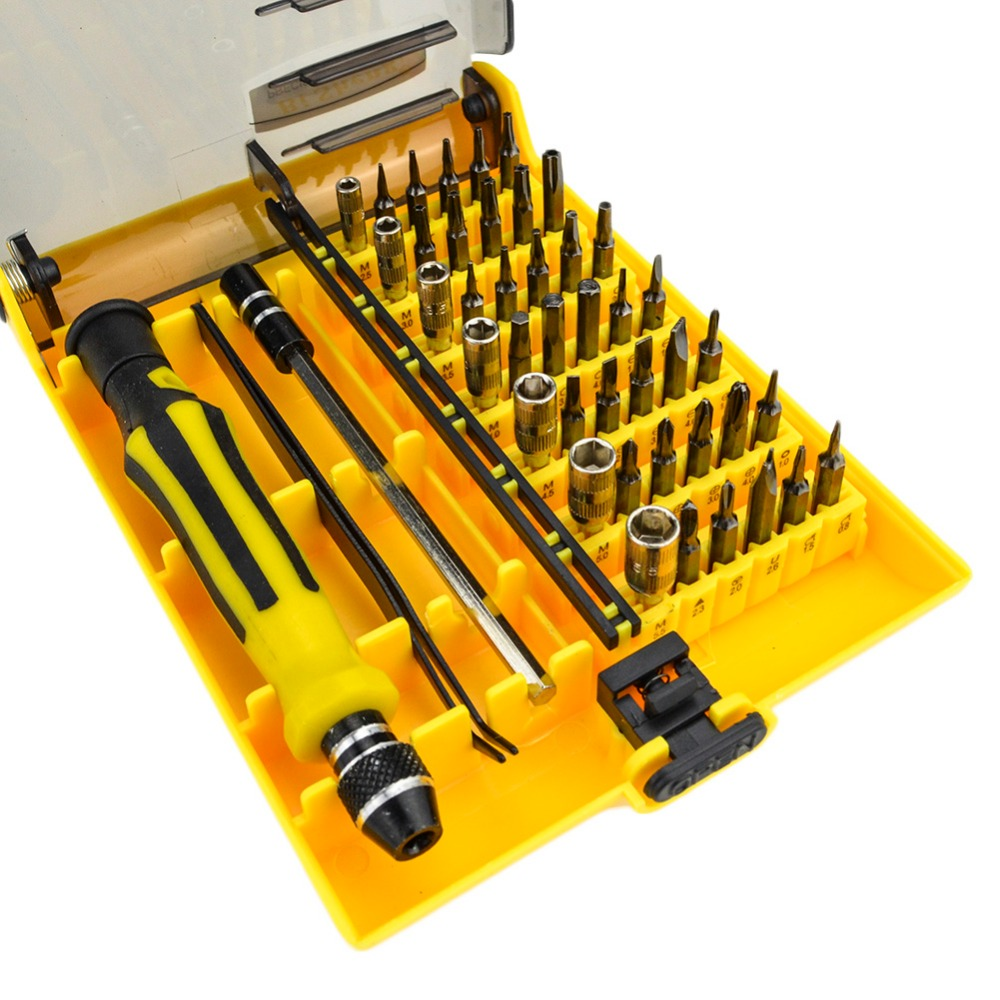 JK 6089 A/B/C 45 in 1 Multi-purpose Precision Magnetic Screwdriver Sets Electrical Household Hand Tools Set for Phone PC Repair