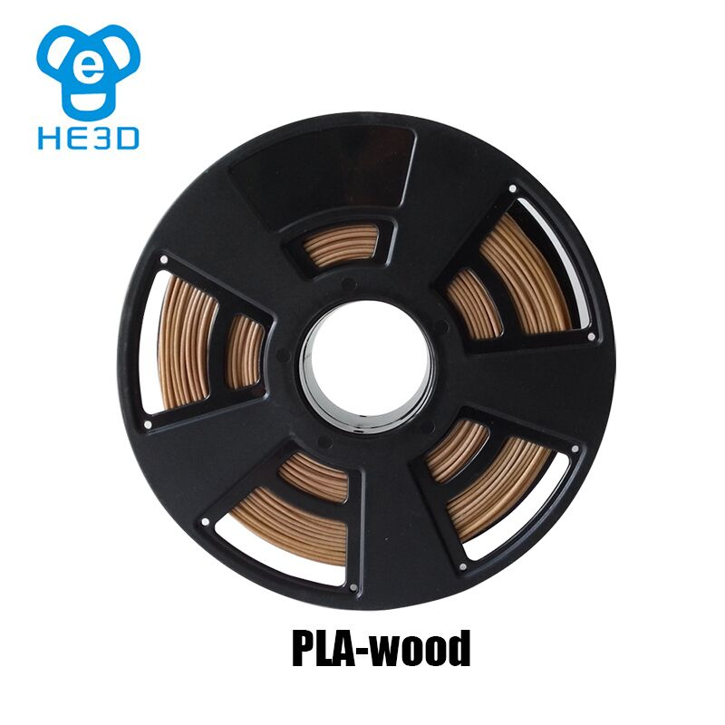 HE3D Wood Material 3d Printer Filaments Dark Wood 1.75mm