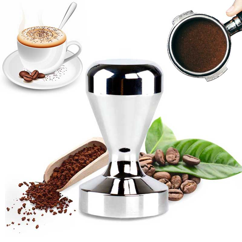 Coffee Barista Espresso Tamper 51mm Base Clear Body Stainless Steel Press