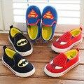 J Ghee Crianças Superman Spiderman Batman Sapatos 2016 Meninas Novas Dos Meninos Caçoa o Natal/Halloween Sapatos Tamanho 21-35 Tênis da moda