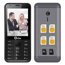Oeina 230 four SIM quad SIM cards 2.8 inch HD big screen 4 SIM card 4 standby Dual TF card dual FM camera cell mobile phone P111