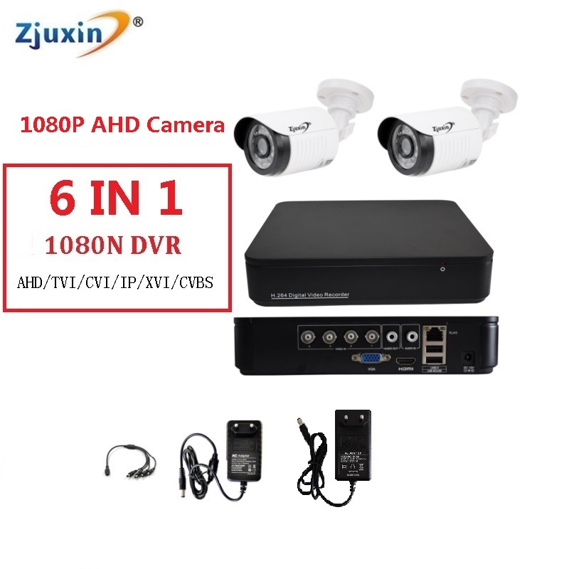 1PC 4CH AHD DVR KIT 1080P HD Indoor and outdoor Security Camera USE 1080P 3.6MM Len AHD Cam Set CCTV Video Surveillance