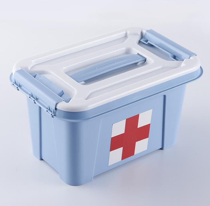 Manufacturers plastic double-layer portable thickening medicine box Home family first-aid medical box storage first aid kit multi family home healthcare kits wholesale pharmaceutical medicine box medical portable suitcase medical kit