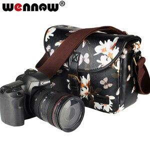 Image 1 - Wennew DSLR Waterproof PU Leather Case Camera Bag for Canon EOS 5D Mark IV 7D 6D II III 9000D 4000D 2000D Nikon SONY