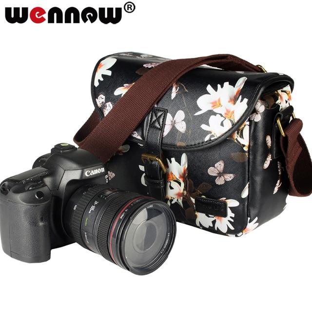 Wennew DSLR Waterproof PU Leather Case Camera Bag for Canon EOS 5D Mark IV 7D 6D II III 9000D 4000D 2000D Nikon SONY