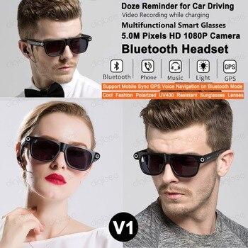 8GB or 32GB HD 1080P Mini Camera Glasses Smart Sunglasses Mini Camcorders Glasses Sports DV Wireless Bluetooth Headset Earphones