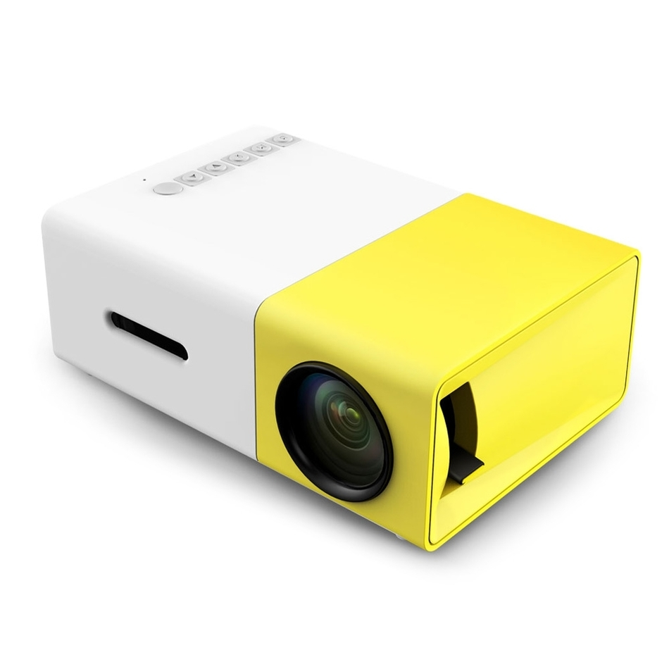 Аао yg300 LED Портативный проектор 500lm 3.5 мм 320x240 пикселей HDMI Mini USB yg-300 проектор для домашнего медиаплеера