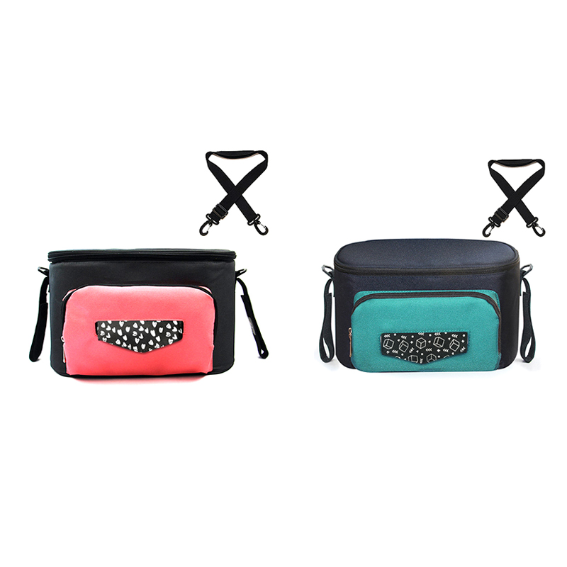 Baby Stroller Organizer Bag With Large Capacity Diaper Bag Carriage Storage Bag For Pram Cart Stroller Accessories