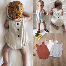 Newborn jumpsuit Infant funny onesie baby aunt girl clothes summer Boy Solid Romper Stripe baby body shirt Outfits sunsuit(China)