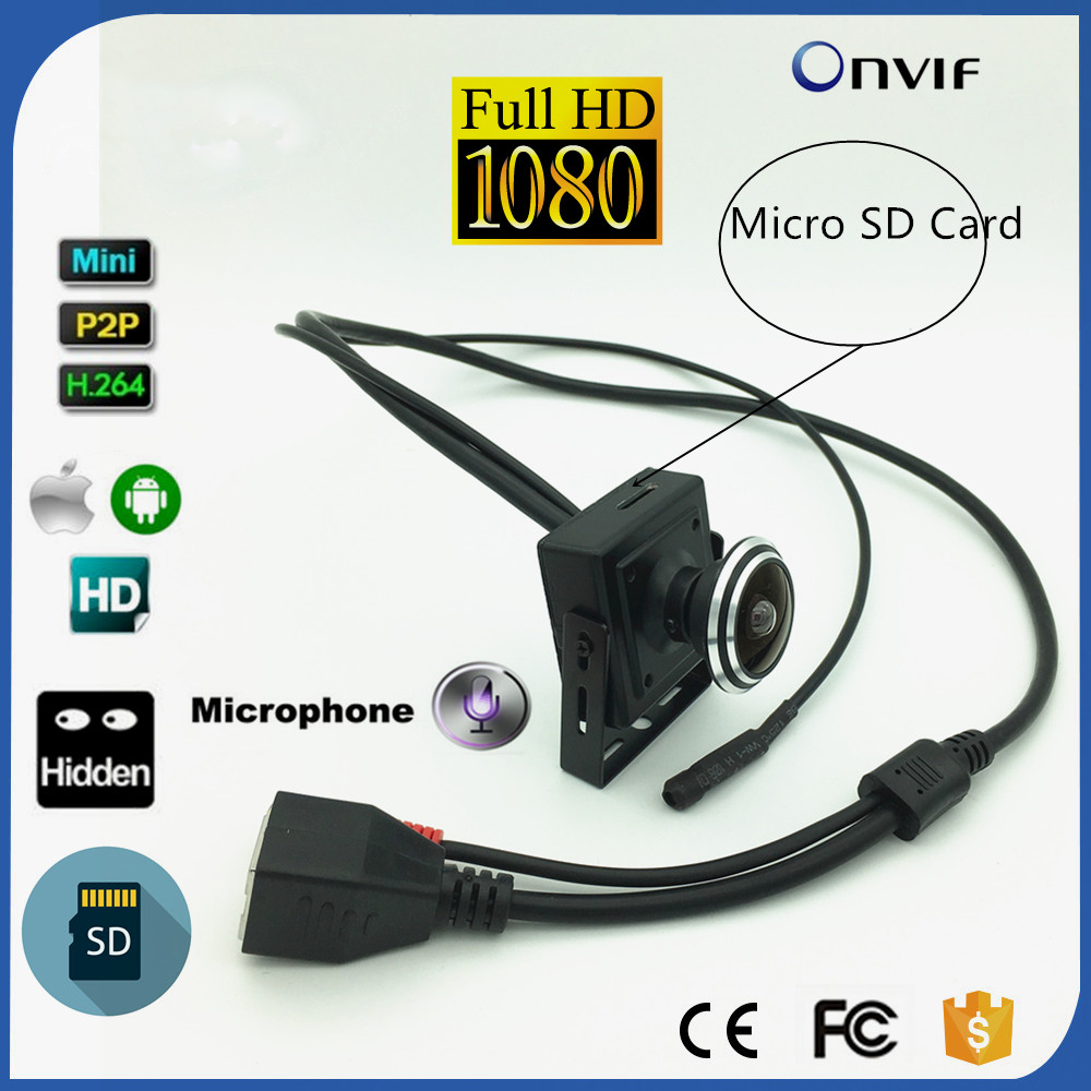1080P HD Fisheye IP Camera Onvif 2MP HD Security Camera CCTV Surveillance Camera Audio TF Card Recording PC Browser image