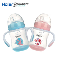 Haier Brillante Baby Children Child Sweet Color Straw Sippy Cup Leaning Drinking Bottle Feeding Bottles Water