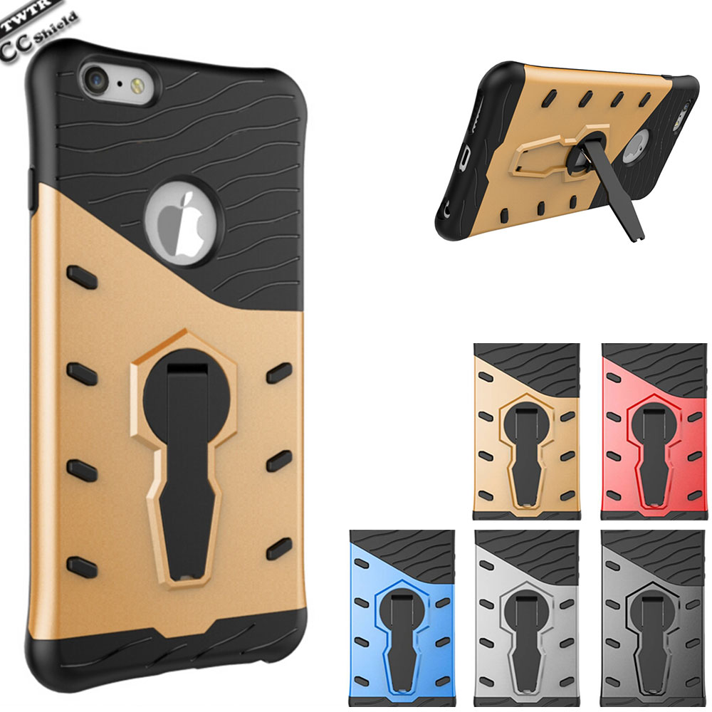 Armor Fitted Case For Apple Iphone 6 Iphone 6s 6 s Case Phone Cover For Iphone6 Iphone6s Black Gold Silicon Bumper Skin Capa bag