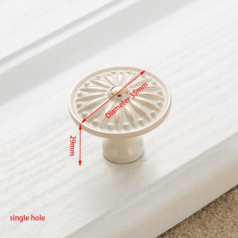 KAK цинк Aolly цвета слоновой кости ручки для шкафа кухонный шкаф дверные ручки для выдвижных ящиков Европейская мода оборудование для обработки мебели - Цвет: Handle-9011-white