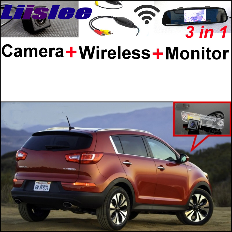 Wireless Receiver + 3 in1 Special Rear View Camera + Mirror Monitor Easy DIY Back Up Parking System For KIA Sportage R 2011~2016 special rear view wifi camera wireless receiver mirror monitor easy diy back up 3 in1 parking system for nissan terrano
