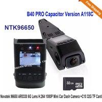 B40 A118 Novatek 96650 AR0330 6G Lens H.264 1080P Mini Size Car Dash Camera DVR+C10 32G TF Card Free Shipping!