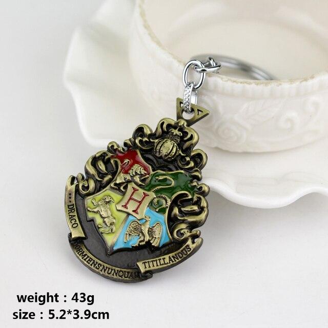 Logotipo de la universidad Hogwarts Gryffindor Hufflepuff Slytherin Escuela Ravenctaw Logo Llaveros y Colgantes Titular de la Joyería Película Envío Libre