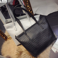 HANSOMFY     2015 New Handbag Bag Korean Woven Casual Bag Ladies Handbag Wholesale Indentation Commuter Direct Manufacturers