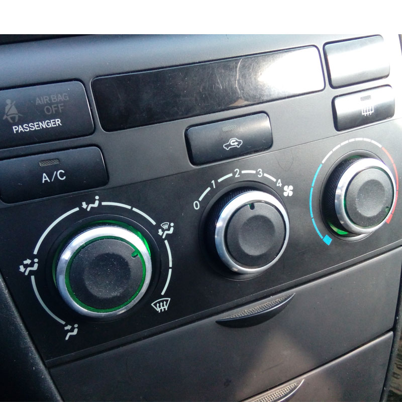 3pcs/set Air Conditioning Knob Aluminum Alloy AC Knob Heat Control Button For Toyota Corolla EX Black Accessories