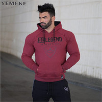 YEMEKE 2017 Muscle Doctor Autumn And Winter Casual New Cap Fashion Trend Gyms Breathable Red Black