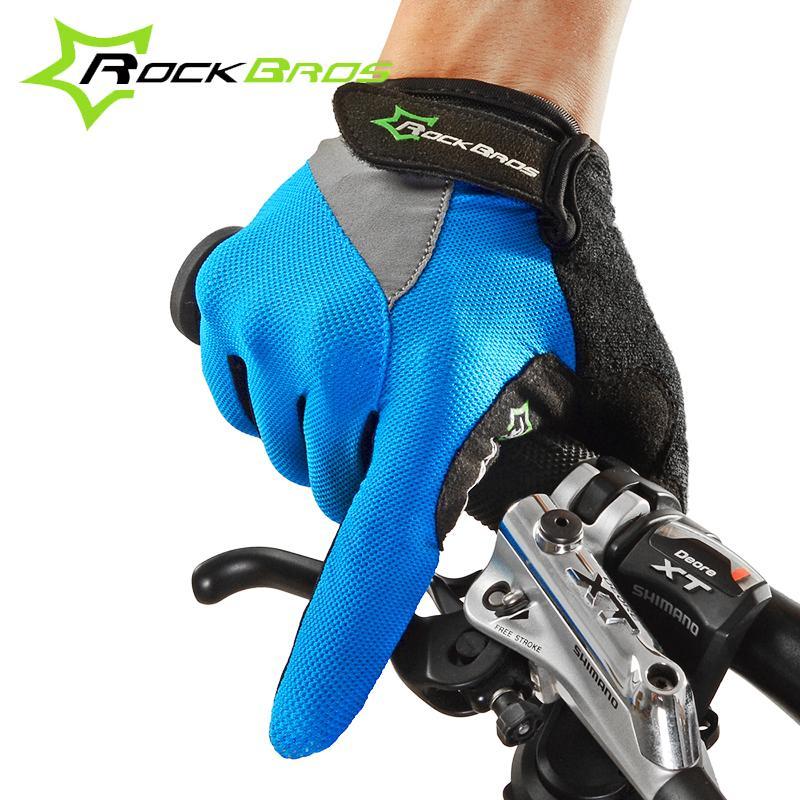 Prix pour RockBros Vélo Gants Long Doigt Vélo Guantes Ciclismo Écran Tactile Vtt Luvas Par Ems Équipements de Remise En Forme D'été Gants Vtt