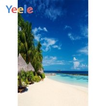 Yeele Seaside View Photographic Backdrops Wave Sea Island Beach Customized Wall Decor Photography Backgrounds For Photo Studio