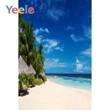 Yeele Seaside View Photographic Backdrops Wave Sea Island Beach Customized Wall Decor Photography Backgrounds For Photo Studio