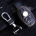 Bolsa de Llavero de cuero Para Benz Glk300C 200 S 350 Ml 400C 180C 260 de Cuero de Cuero Del Coche Llavero Para El Benz clave