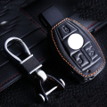 Leather Keychain Bag For  Benz Glk300C 200S 350Ml 400C 180C 260 Leather Keyring For Benz Leather Car Wallet Key