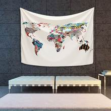 Buy covering walls with fabric and get free shipping on aliexpress chromatic world map tapestry 150x130cm wall hanging beach towel blanket sheet tapisserie dorm cover home decoration gumiabroncs Choice Image