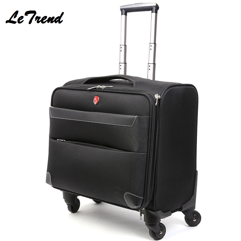LeTrend 18/20/24inch Business Oxford Travel Multi-function Luggage Trolley Men Large Capacity Travel Rolling LuggageLeTrend 18/20/24inch Business Oxford Travel Multi-function Luggage Trolley Men Large Capacity Travel Rolling Luggage