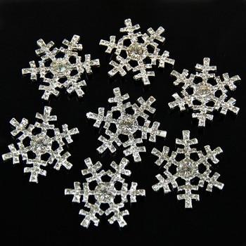 New Christmas Snowflake Rhinestone Full Crystal Snow Flower For girl Headband clothes Free Shipping 50pcs/lot PJB24