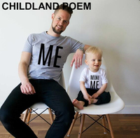 Summer 2016 Family Matching Outfits Letter Me Mini Me Father And Son Clothes Cotton Family Look