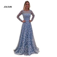 2018 Women Long Sleeve Floral Blackless Maxi Lace Dress Prom Bandage Vintage Party Dresses Evening Vestidos