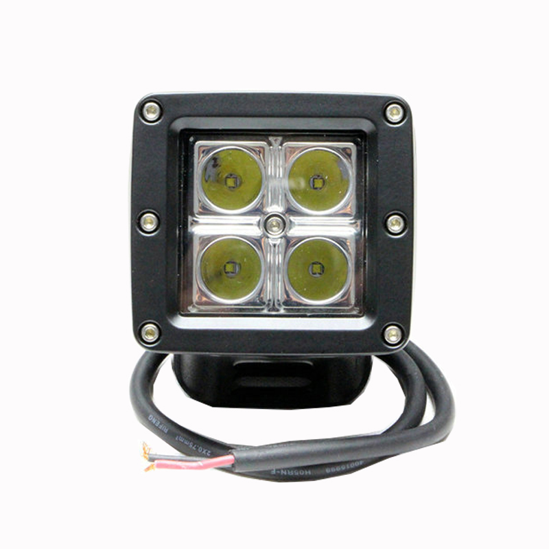 12 W Cree Puce Voiture LED Offroad Travail Light Bar pour Jeep 4x4 4WD AWD SUV ATV De Golf Panier 12 v 24 v Conduite Lampe Moto Brouillard lumière