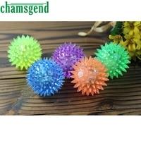 1PC Puppy Dog Cat Pet Hedgehog Rubber Ball Bell Sound Ball Fun Play Pet Toy luminous Levert Dropship mar20