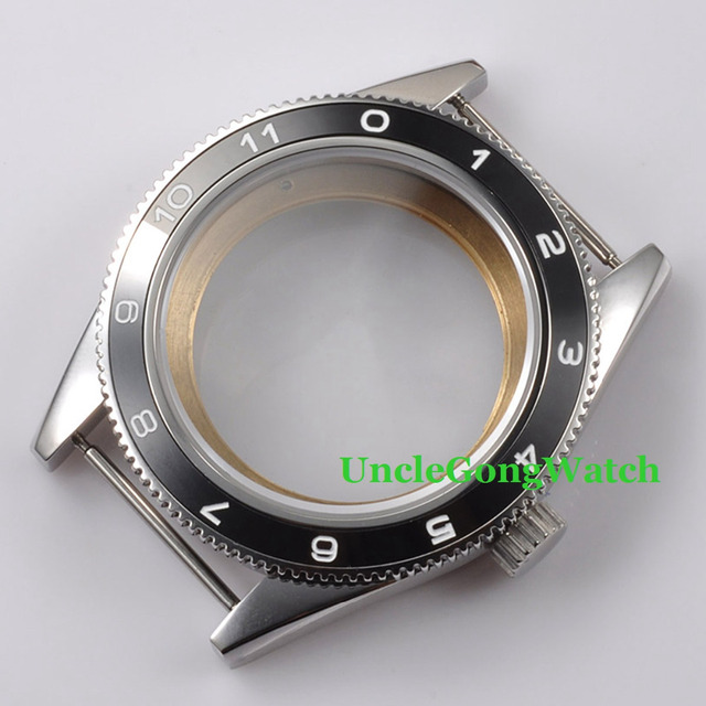 As Peças do relógio, debert 41mm caso relógios para homens relógio de pulso, preto de Cerâmica Moldura Apto para ETA 2836/2824 DG 2813 Movimento Automático