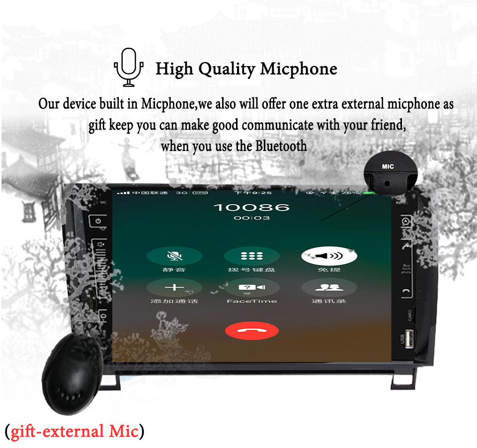 "Sale 9"" IPS 3/4G Android 9.0 4+64G 2 DIN CAR multimedia player for Toyota Sequoia Tundra 2007-2013 RADIO stereo auto audio navigation 5"